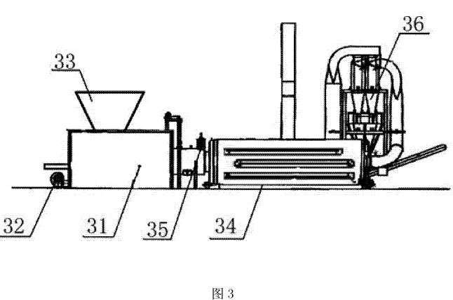 图1为生物质木屑颗粒燃料生产设备的结构示意